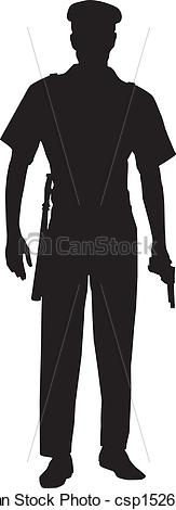 Police clipart silhouette #4