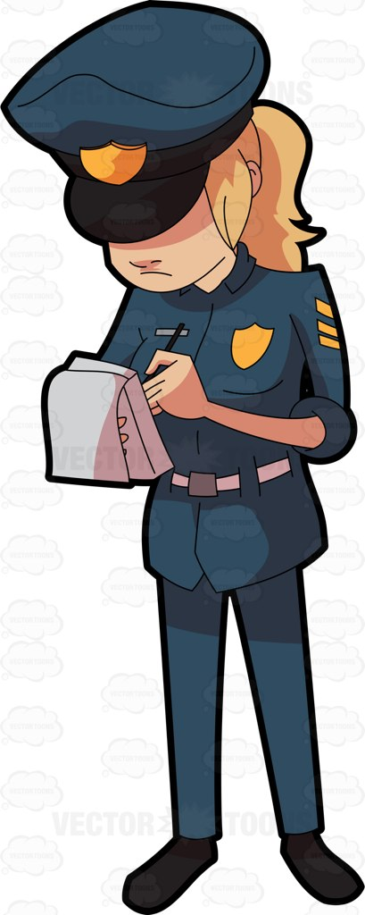 Stop clipart police man Ticket A  Clipart Down