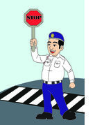 Police clipart traffic police Police Traffic Illustrations Traffic and