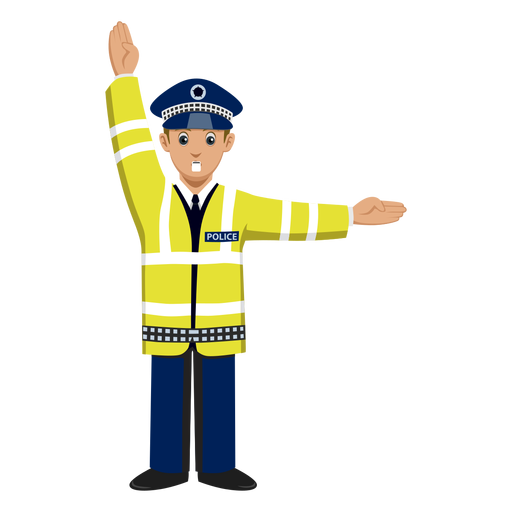 Police clipart traffic police Signalling PNG cartoon & Traffic