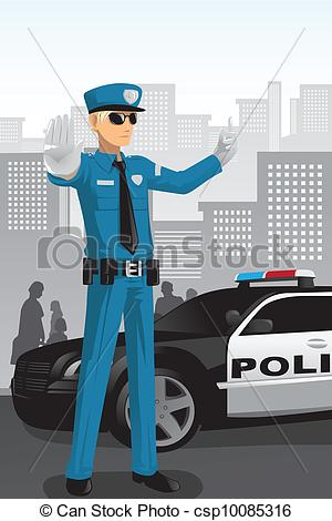 Police clipart traffic police Csp10085316 a Police Art officer