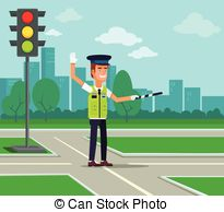 Traffic clipart traffic police #10