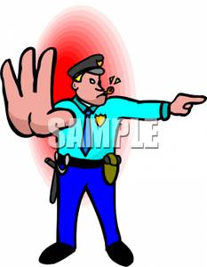 Traffic clipart traffic police #5