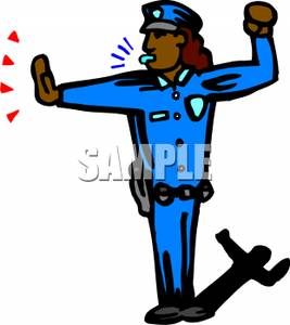 Traffic clipart police officer Officer Free Police Picture Directing