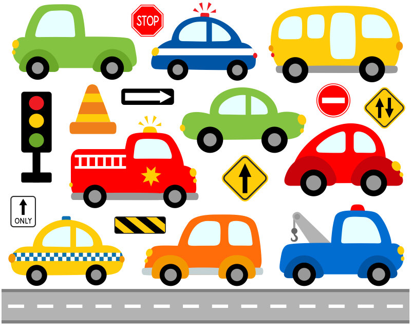 Police clipart transportation Road Cars Vehicle YDC105 Road
