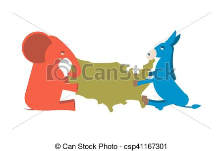 Political clipart america Map Republicans  of party