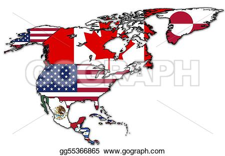 Political clipart america Drawing america gg55366865 north with