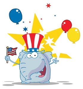 Political clipart american flag Elephant Free Cartoon An Art