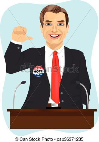 Political clipart candidate Makes Vectors political campaign speech