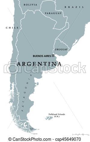 Political clipart capital Political Argentina map Illustration Vectors