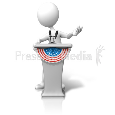 Political clipart president Clip Signs for PowerPoint Candidate