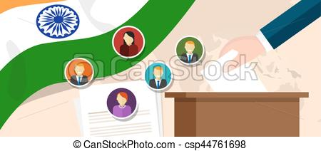 Political clipart president Selecting with selecting India Vectors