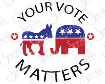 Political clipart voting Dxf Your Vote Donkey Clipart