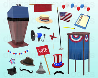 Political clipart voting Political Election Graphic Booth Voter