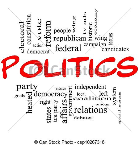 Politics clipart In Concept Red Letters Letters
