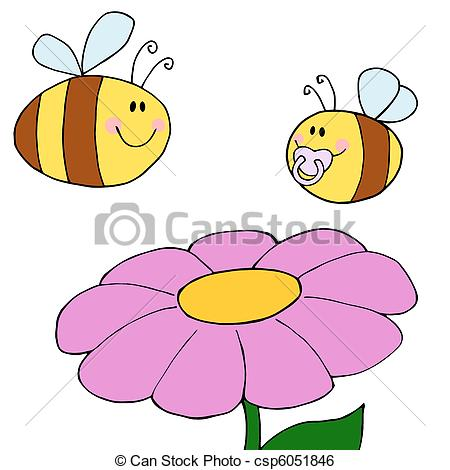 Pollination clipart Purple A Art of Bee