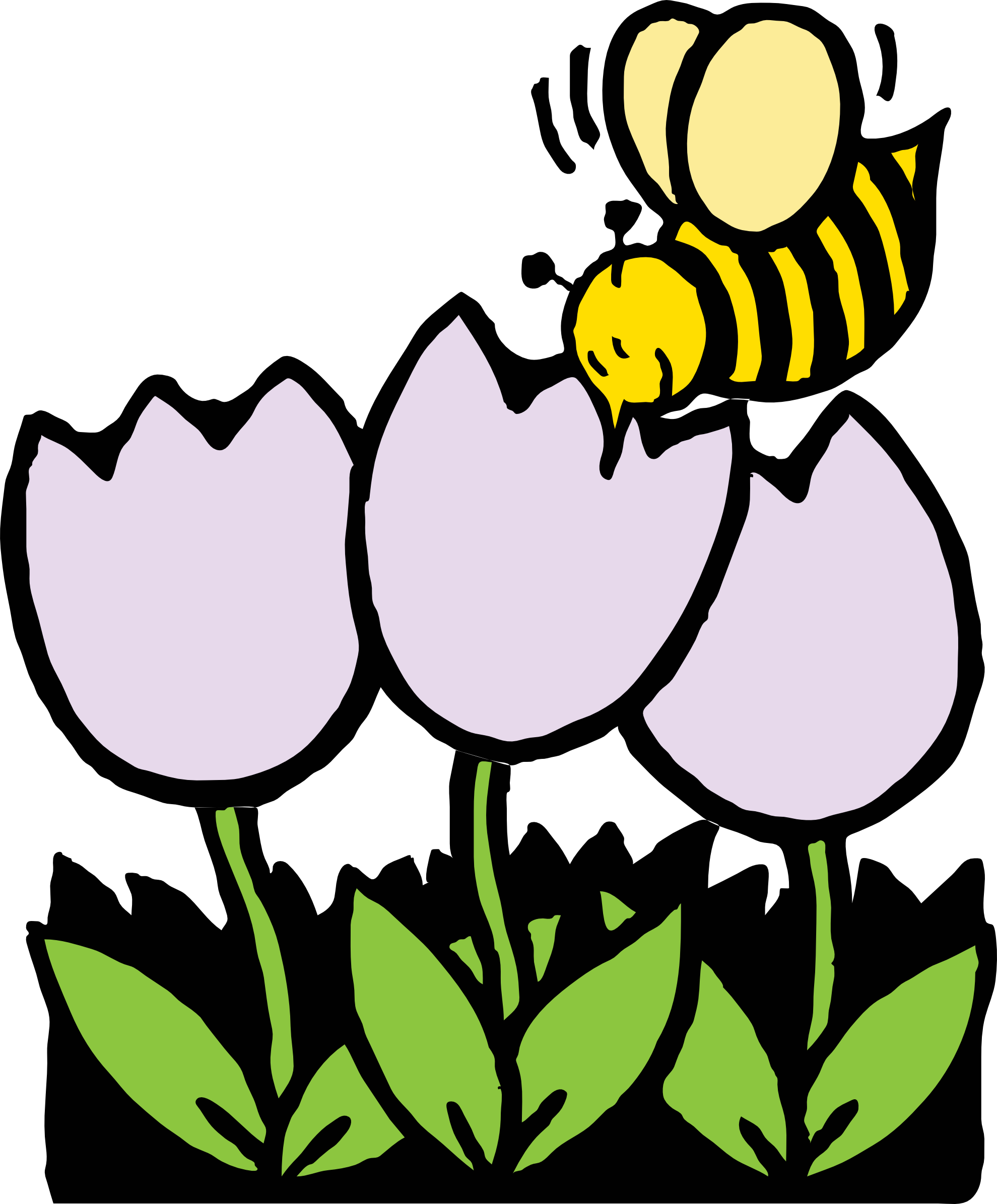 Pollination clipart Flower Clipart Bee Drawing Panda