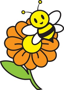 Pollination clipart Flower Clipart Bee Clipart Panda