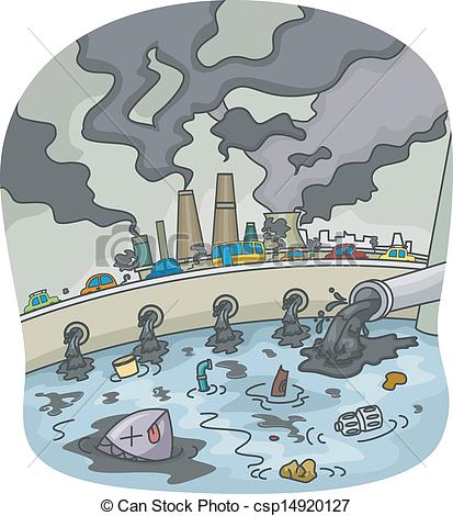 Factory clipart contamination  Pollution of 085 52