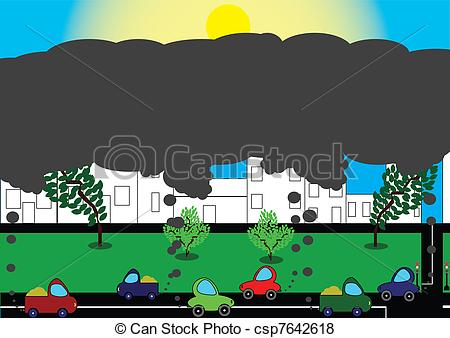 Pollution clipart auto Of of of environment a