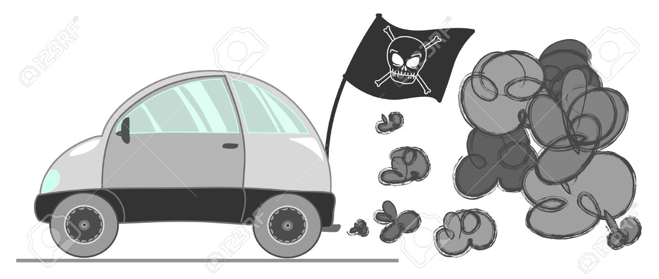Pollution clipart automobile Grey Clipground Royalty A Illustration
