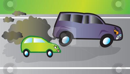Pollution clipart automobile SUV vector stock Monster SUV