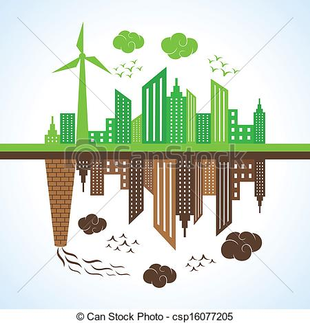 Pollution clipart city pollution Vector illustrations city stock stock