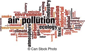 Pollution clipart city pollution Air Illustration Vector Clipart Featuring