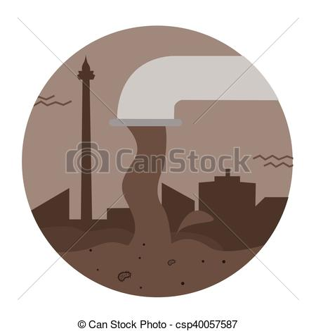 Pollution clipart industrial wastewater Pipe Clipart pouring of sewage