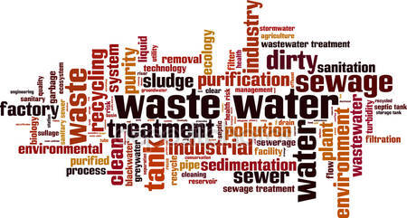 Pollution clipart industrial wastewater Royalty water Free water word