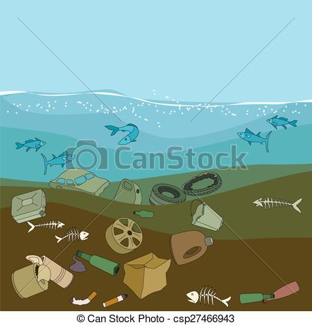 Sea clipart polluted #10