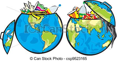 Trash clipart soil pollution Land of Vector land Clipart