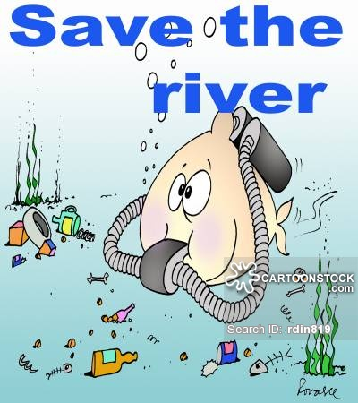 Pollution clipart river pollution #1