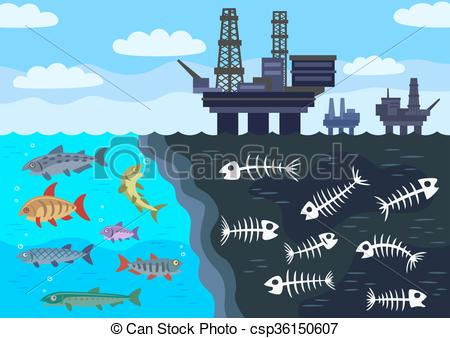 Pollution clipart sea pollution Marine csp36150607 Vector pollution by