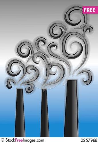 Smoking clipart smog Pollution Stock Stacks Smoke Pollution