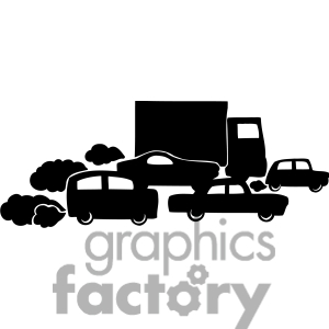 Pollution clipart traffic pollution #1