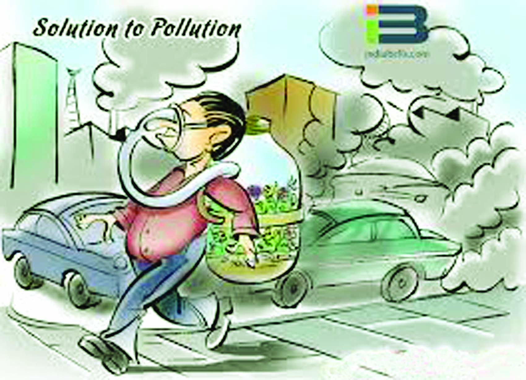 Pollution clipart traffic pollution #4