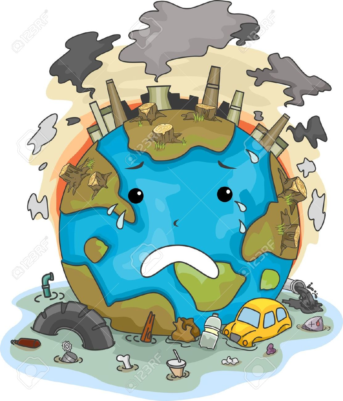 Pollution clipart unclean environment  R's The on 3