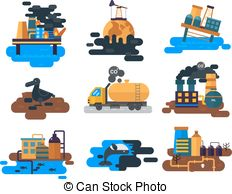 Pollution clipart vector Art Ecological of pollution Clip