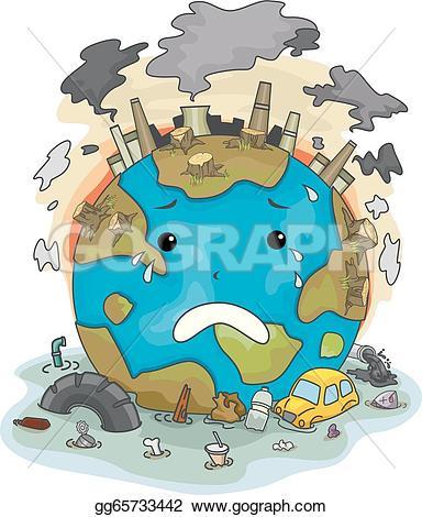 Pollution clipart vector Due Vector pollution Clip earth
