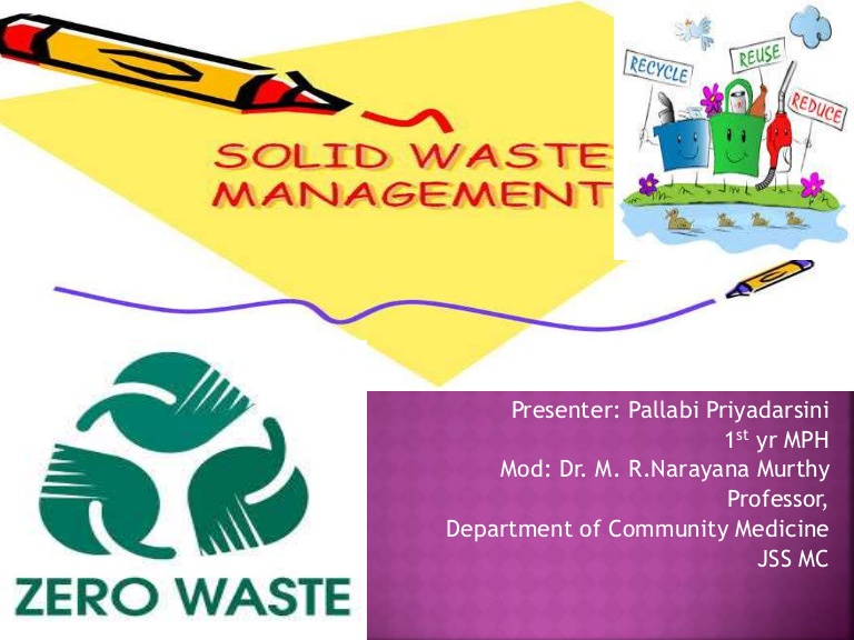Toxic clipart proper waste management Management  waste Solid ppt