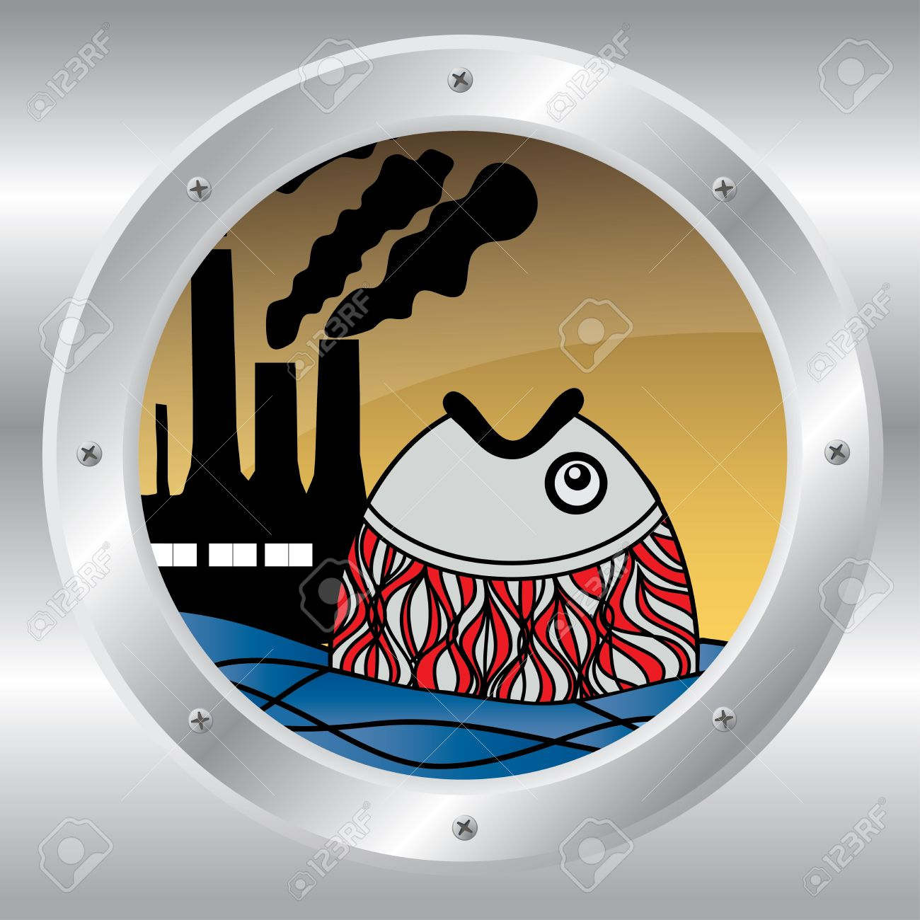 Sea clipart polluted #6