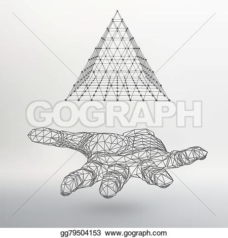 Shadow clipart arm The holding a triangle in