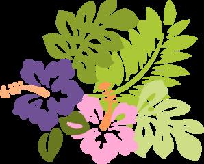 Polynesia clipart circle Vector Hibiscus Clker Clker online