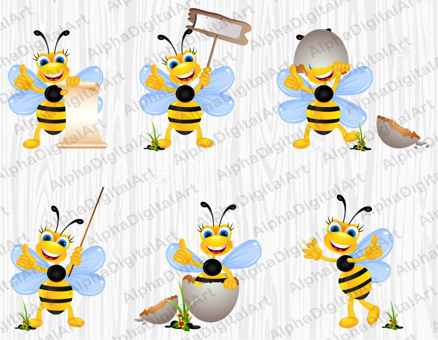 Ant clipart whimsical Insects Cartoon a digital bees