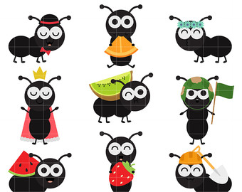 Ant clipart cute Art Cupcake Clip Ants Toppers