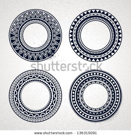 Polynesia clipart circle Set tattoo Polynesian Pinterest Illustrator