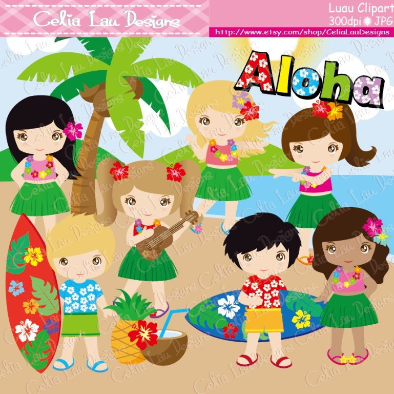 Sandal clipart luau Party Commercial Clipart First Hula