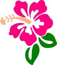 Pink Flower clipart hawaiian flower Hibiscus Cortador clip de Hibiscus