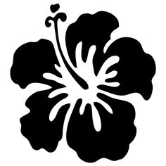 Tropical clipart black and white #12